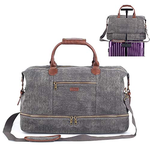 Meejune Duffel Bag Weekender Bag with Shoe Compartment