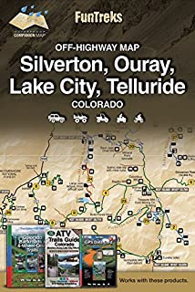 Off-Highway Map for Silverton, Ouray, Lake City, Telluride Colorado