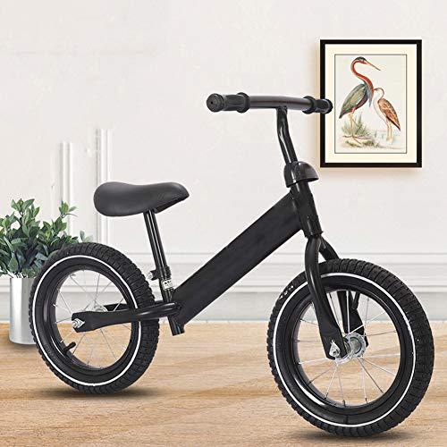 ZXL Balance Bike, Sicurezza Bambini Leggeri Prima Corsa Balance Bike Bicicletta da Allenamento per 18 Mesi 2 3 4 5 Anni Bici per Bambini 12'Senza Pedale Scooter Bicicletta,Nero