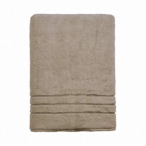 Cariloha 600 GSM Bamboo & Turkish Cotton Bath Towel - Odor Resistant, Highly Absorbent - Includes 1 Towel - Stone