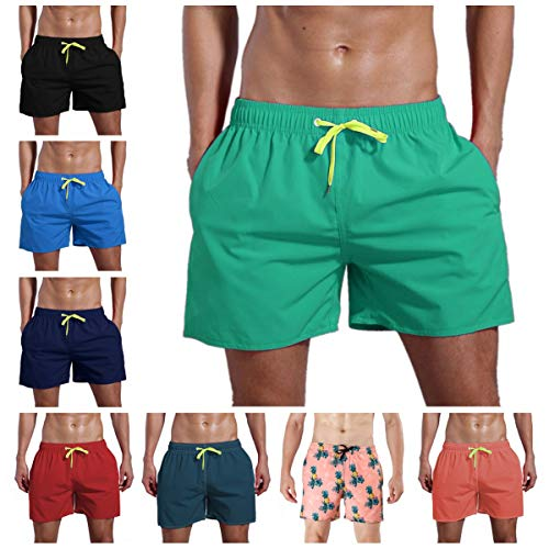 ORANSSI Men's Quick Dry Swim Trunks Bathing Suit Beach Shorts Green