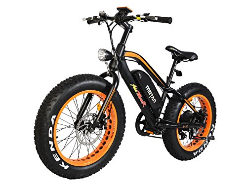 Electric Bicycle Fat Tire M-50 20 Inch Wheel Mini Electric Bike with 500W Motor 36V 10.4 AH Battery 2018 (Orange)