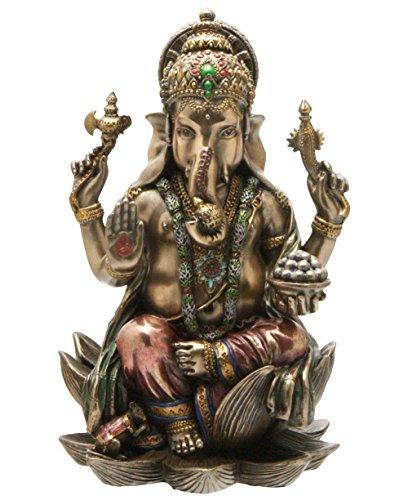 CraftVatika Estatua de Ganesh (Ganesha), elefante dios de éxito hindú, de Bronce fundido, 18,4 cm