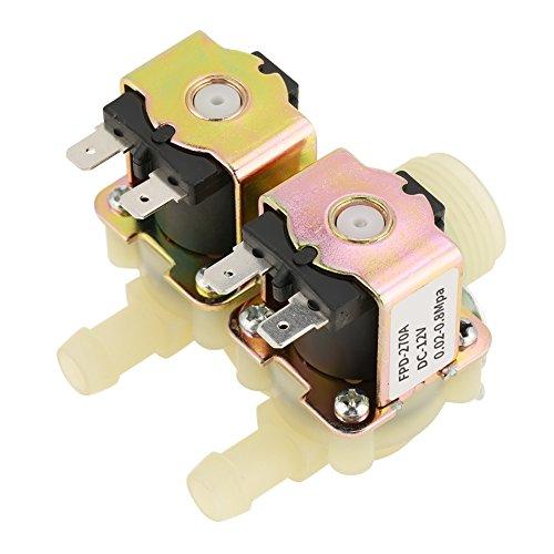 Válvula solenoide eléctrica de doble cabezal, DN20 G3 / 4 DC 12V...