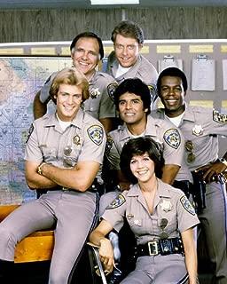 Tina Gayle Erik Estrada Robert Pine TV Cast Tom Reilly Chips 8x10 Promotional Photo