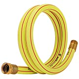 Solution4Patio Homes Garden 3/4 in. x 5 ft. Short Hose Yellow Lead-Hose Male/Female High Water Pressure Solid Brass Fittings for Water Softener, Dehumidifier, Vehicle Water Filter 5 Years Warranty