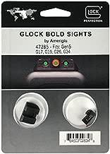 Glock 47285 Bold night sights By Ameriglo Gen 5 17,19,26,34 w/orange outline front