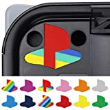 PlayVital Custom Vinyl Decal Skins for Playstation 5 Console, PS5 Logo Underlay Sticker - 9 Colors & 3 Classic Retro Styles