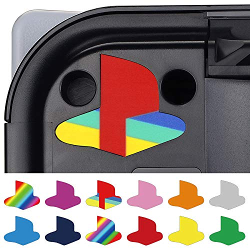 PlayVital Custom Vinyl Decal Skins for PS5 Console, Logo Underlay Sticker for PS5 Console - 9 Colors & 3 Classic Retro Styles