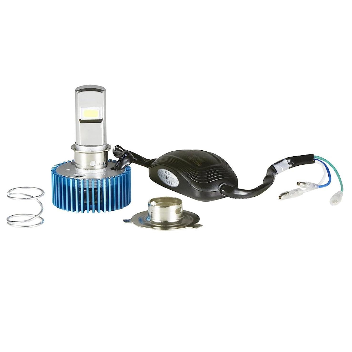 入口ビジョン召集するRAYD(レイド) LEDヘッドライト 原付 交流取付可能 Hi/Lo 15W/8W 切替機能有 PH7/PH8/H4