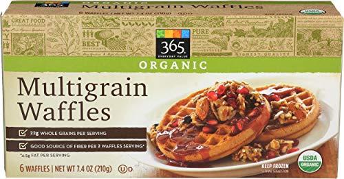 365 Everyday Value, Organic Multigrain Waffles, 6 ct, (Frozen)
