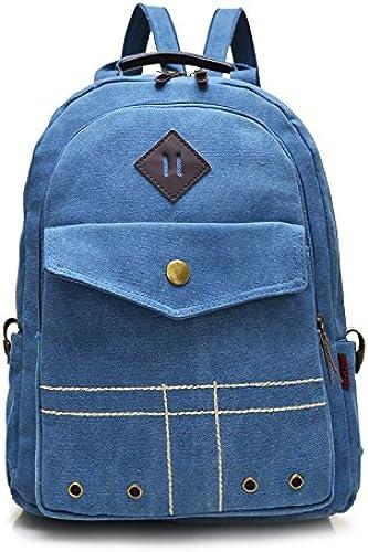 Britische retro Taschen für M er und Frauen Leinwand dual Umh etasche pc Tasche personalisierte Mode Rucksack, blau