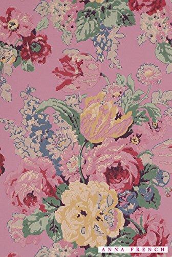 輸入壁紙 イギリス製 品番:AT10090 サイズ:52cm×10m 柄リピート:61cm(ステップ) カラー:ピンク