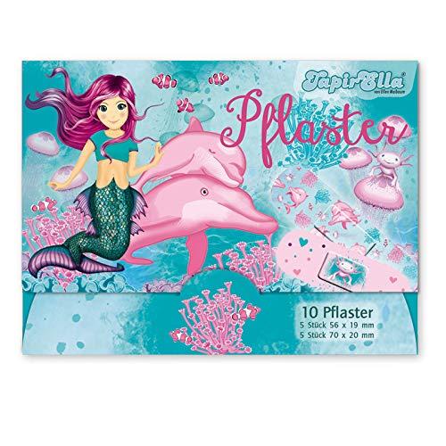 10 Kinderpflaster * NIXE Coralie & Delfine * von Lutz Mauder   14622   Pflaster Pflasterbriefchen Kinder Tiere Meerjungfrau Waldtiere Heftpflaster