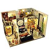 Casa de muñecas en miniatura con muebles de bricolaje chino para niños, regalo (sin pilas)