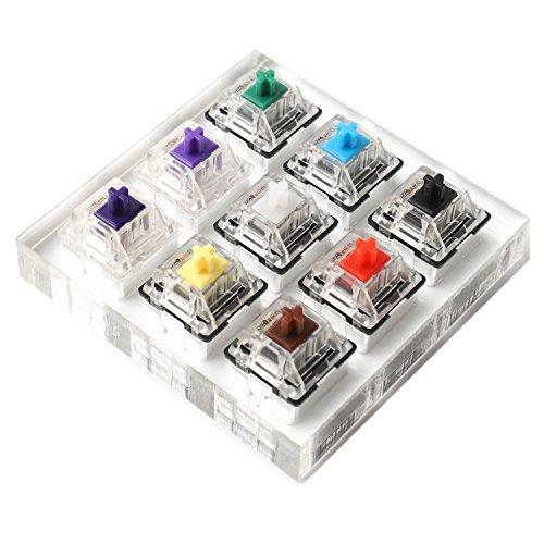 NPKC Gateron Schalter mit 9 Tasten, grün, klar, weiß, grau, klar, Zealio, violett, Wellen-Prüfwerkzeug, Schalter-Tester