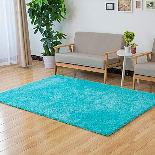 Woonkamertapijt, modieus, effen, modern, minimalistisch, woonkamer, salontafel, tapijt, slaapkamer, nachtkastje, rechthoekig, blauw, 70 x 140 cm 70*140cm