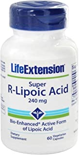 Life Extension, SUPER R-LIPOIC ACID - 60 VEGETARIAN CAPSULES, 240 mg