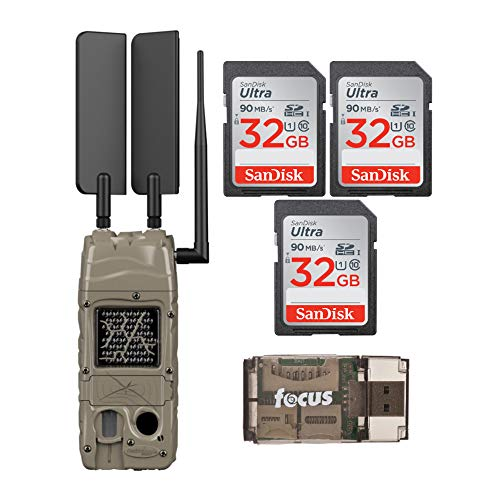 Cuddeback CuddeLink Cell Trail Camera (Verizon) with 32GB SD Cards and Reader Bundle (5 Items)