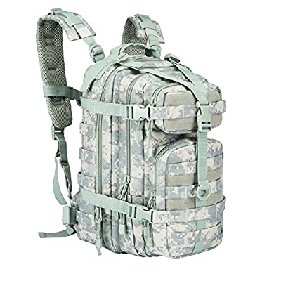 ARMYCAMOUSA Military Tactical Backpack, Small 3 Day Army Molle Assault Rucksack Pack for Outdoors, Hiking, Camping, Trekking, Bug Out Bag & Travel