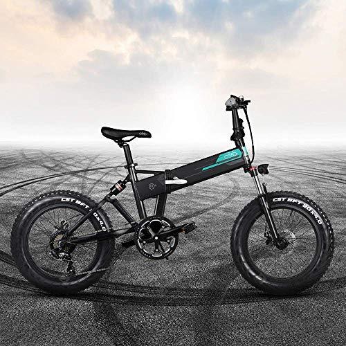 INOVIX Bicicleta Eléctrica Fiido M1 para Adultos, Siete Velocidades, Todoterreno, Motor De 250W, Rango De Neumáticos 20x4 12.5ah 100 Km (Plazo De Entrega 7-14 Días)(Black)