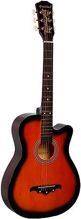 ギター 初心者 入門 アコースティック クラシックギター どこへでも気軽に持ち運べ (オレンジ)