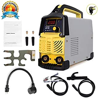 Welding Machine, 110V&220V, 200Amp Power, IGBT AC DC Beginner Welder With Display LCD Use Welding Rod Equipment Tools Accessories … …