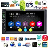 Binize Android System 7 Inch HD Double Din Car Stereo Radio Multimedia Player,GPS Navigation Bluetooth/USB/AUX/TF/WiFi (B7918 1G RAM+16G ROM)