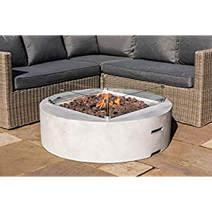 Peaktop Firepit Outdoor Gas Fire Pit Stone with Lava Rock