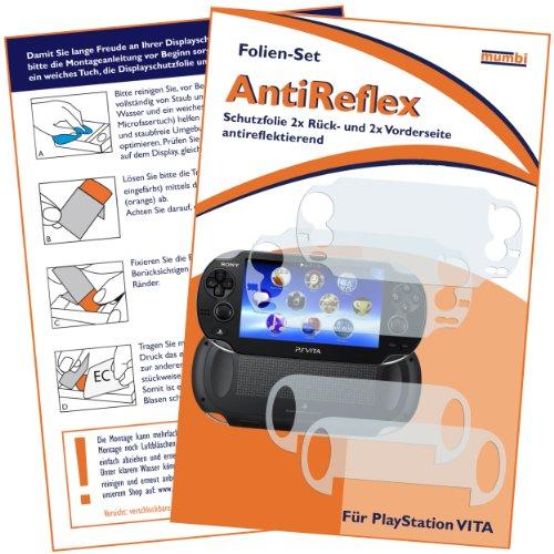 mumbi Schutzfolie kompatibel mit Sony Playstation Vita Folie matt, Displayschutzfolie (4X)