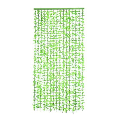 Zcyg Fliegenvorhang Tür,Fliegengitter Tür, Grünes Blatt Tür Vorhang Balkon-Tür-Vorhang for Schlafzimmer, Wohnzimmer, Shop-Eingang Dekoration, 90 * 180cm