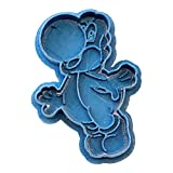 Cuticuter Yoshi Mario Bros Cortador de Galletas, Azul, 8x7x1.5 cm