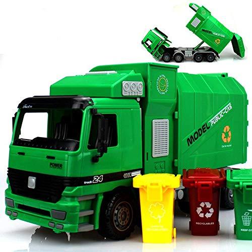 AOTE-D Camión de Juguete, Simulación de Limpieza Coche Limpieza de Caminos Camión Camión de Basura Niños Juguete Niño Niña Regalo