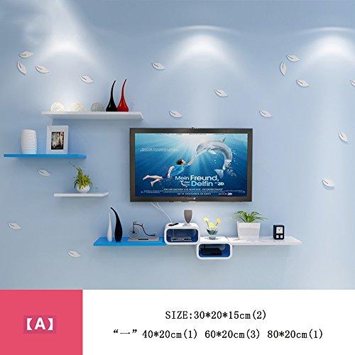 Wanddecoratie MEIDUO Set-top Box Wandplanken TV Router Creatieve Lattice Wandopknoping Woonkamerplank (meerdere stijlen beschikbaar) Muurkunst
