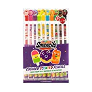 Colored Smencils - Gourmet Scented Colored Pencils made from Recycled Newspapers, 10 Count, Gifts for Kids, School Supplies, Classroom Rewards by Scentco