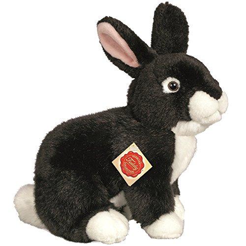 Hermann Teddy Collection 937845 - Plüsch-Hase hockend, 25 cm, schwarz