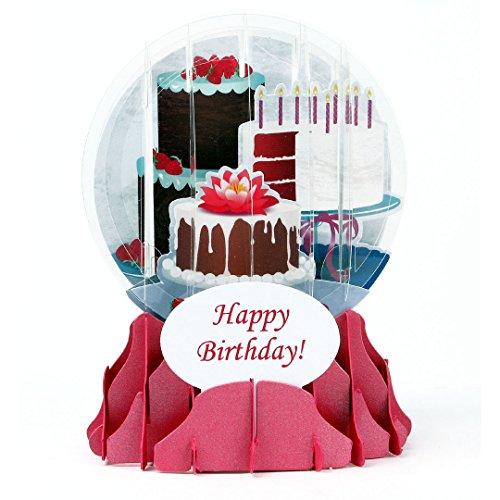 3D Snow Globe - BIRTHDAY CAKES - Birthday Card