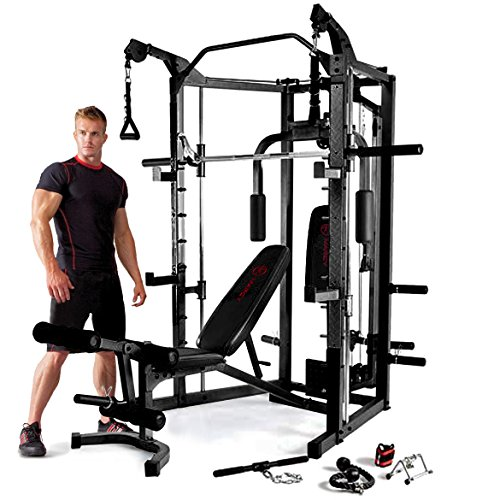 Marcy Eclipse Deluxe Smith Machine Gym - Black/Red