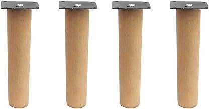 DX houten meubilair poten 4 stuks, sich toelopende tafelpoten, beuken sofa sofa voeten, lakkleur, bijzettafel/tv-kast/salo...