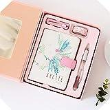 Caja de regalo con hebilla magnética de poliuretano, libro de mano, pequeño y fresco, color Caja de regalo rosa-viento ártico as picture