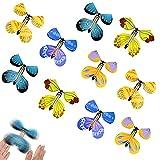 ZoneYan Mariposas Volando, Mariposas Mágicas, Cartas De Mariposa Magia, Tarjeta Mágica Mariposa Voladora, Juguete Mariposas Mágicas, Juegos de Mariposas Voladoras, Color Aleatorio (10 Piezas)