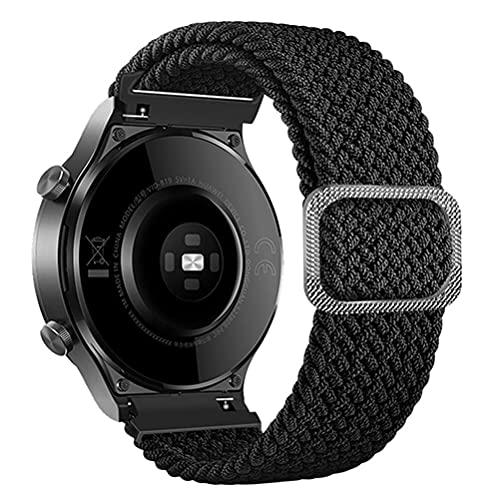 20mm braided solo loop適合Samsung Galaxy Watch 3 41mm/Galaxy Watch 42mm/Gear S2/gear sport/Active 2/1編組ソロループ弾性シリコン生地ナイロンアジャスタブルスポーツストラップfor AmazfitBip/Bip Lite
