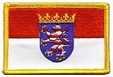 Aufnäher Patch Flagge Deutschland Hessen - 8 x 6 cm