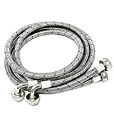 Stainless Steel Washing Machine Hoses 6ft, Burst Proof Hot and Cold Inlet Washer Hose with 90 Degree Elbow (2Pack)
