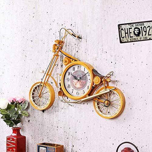 Kreative Motorrad wanduhr, Retro schmiedeeisen Dekoration stumm Uhr, geeignet für Wohnzimmer, esszimmer, Eingang (74 × 56 cm)