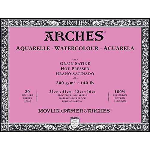 Unbekannt Arches 1795074Bloc para Acuarelas, Madera, Color Blanco, 41x 31x 1cm