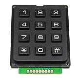 Motocicleta 12 Key MCU Membrana conmutador del teclado 4 X 3 Matrix Matriz módulo de teclado Matrix