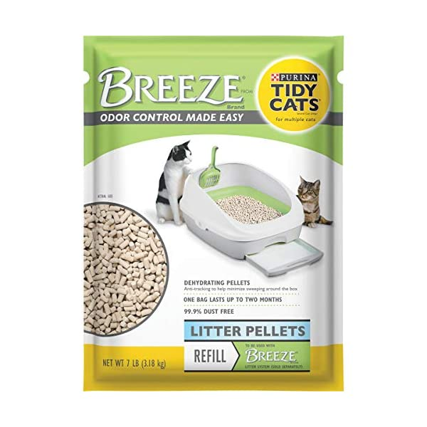 Purina Tidy Cats Breeze Refill Litter Pellets, 7 Pound (Pack of 4)
