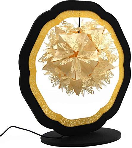 GYC 3D DIY Lámpara de Tallado de Papel estereoscópico Lámpara de Escritorio LED Lámpara de Mesa pequeña Hecha en casa Lámpara de Noche Creativa para Dormitorio Mini estil
