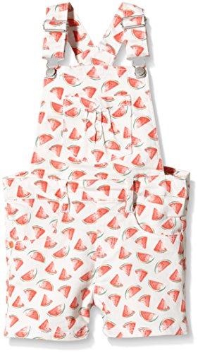 NAME IT Mädchen Latzhose NITHENRICA M Twil Overall Shorts 216 GER, Mehrfarbig Bright White, (Herstellergröße: 92)